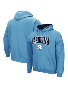 North Carolina Tar Heels Colosseum Arch & Logo Tackle Twill Pullover Hoodie   Carolina Blue by Colosseum