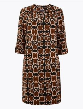 Petite Animal Print Shift Dress by Marks & Spencer