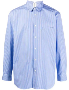 Striped Zip Up Shirt by Comme Des Garçons Shirt