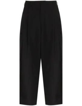Wide Leg Cropped Trousers by Comme Des Garçons Homme Plus