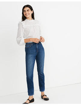 The Petite High Rise Slim Boyjean In Barksdale Wash by Madewell