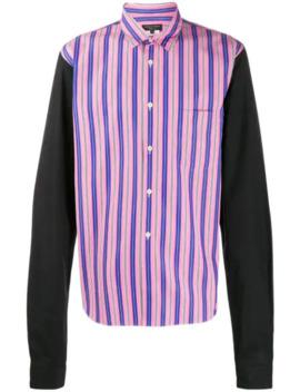 Striped Panel Shirt by Comme Des Garçons Homme Plus