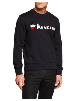 Men's Maglia Girocollo Long Sleeve Shirt by Moncler