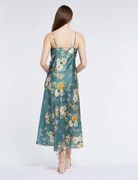 H By Harlow Isla Floral Print Sleeveless Dress, Green by Farmers