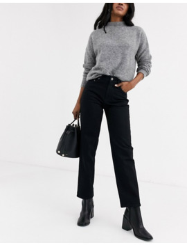 & Other Stories Straight Leg Jeans In Black by & Other Stories