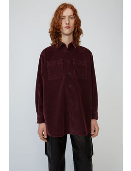 Corduroy Shirt Wine Red by Acne Studios