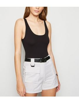 Cameo Rose White Belted Utility Shorts by New Look