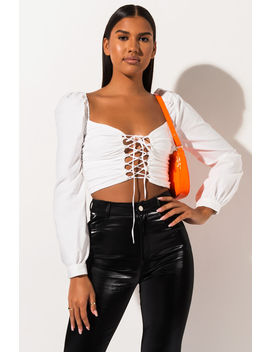 All Mine Lace Up Crop Top by Akira