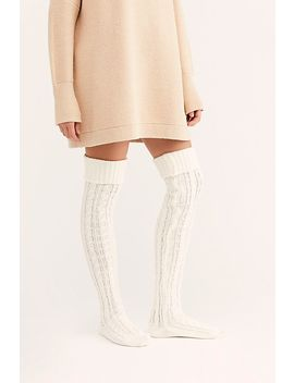 Alpine Cable Over The Knee Socks by Free People