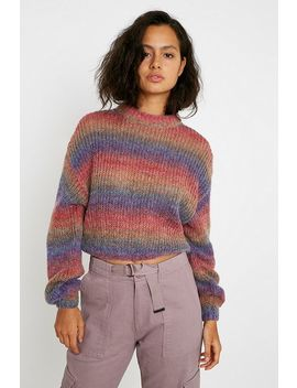 Uo Ombre Spacedye Balloon Sleeve Jumper by Urban Outfitters