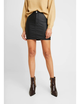 coated-joni-skirt---minifalda by topshop