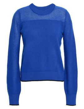Yorke Open Knit Paneled Cashmere Sweater by Rag & Bone