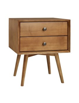 Gerow Mid Century 2 Drawer Nightstand by George Oliver