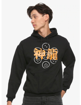 Dragon Ball Z Orange & White Symbols Hoodie by Hot Topic