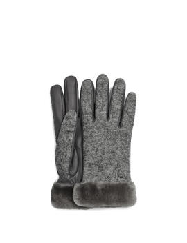 Fabric Leather Shorty Glove by Ugg