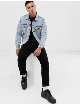 Levi's   The Virgil   Denim Oversized Truckerjack In Extra Lichte Wassing by Levi's