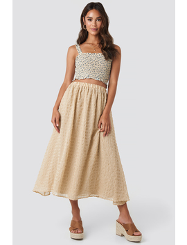 Flowy Structured Skirt Beige by Na Kd Boho
