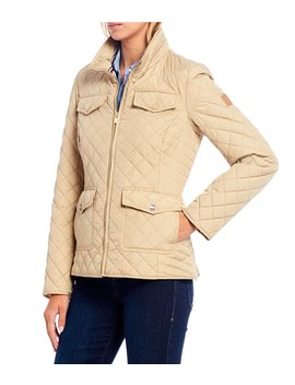 Patch Pocket Zip Front Quilted Jacket by Tommy Hilfiger