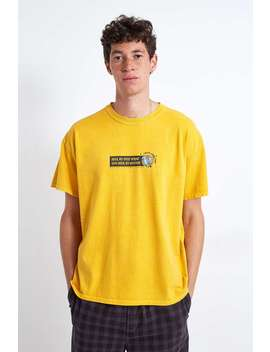 Uo Trials Over Time Yellow T Shirt by Urban Outfitters