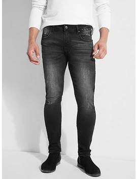 Velvet Tape Skinny Jeans by Guess