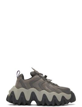 Grey Nubuck Halo Sneakers by Eytys