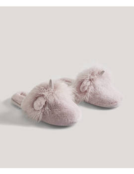 Unicorn Slippers by Oysho