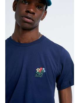 Belief Embroidered Bouquet Navy T Shirt by Belief