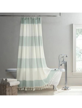 Ugg® Napa Yarn Dyed Stripe Shower Curtain In Agave by Bed Bath And Beyond