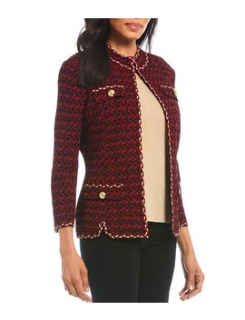 Braided Trim Boucle Jacket by Ming Wang