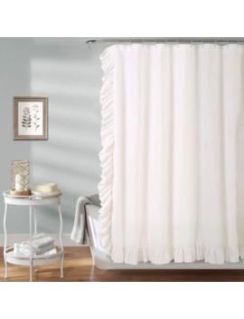 Reyna Shower Curtain In White by Bed Bath And Beyond