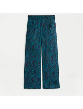 Relaxed Pull On Cropped Pant In Zebra Stripe by J.Crew