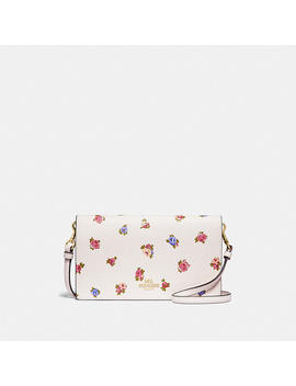 Hayden Foldover Crossbody Clutch With Vintage Rosebud Print by Coach