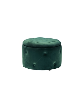 Nearest Store     Norwich Sprowston    Cleo Round Storage Pouffe   Teal by Homebase