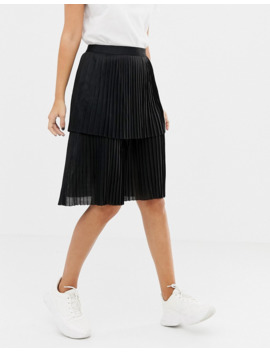 Unique21 Layered Pleated Midi Skirt by Unique 21