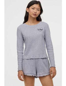 Rebrované Džersejové Pyžamo by H&M