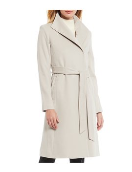 Wool Cashmere Blend Wrap Dress Coat by Katherine Kelly