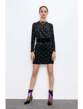 Belted Velvet Dress by Zara