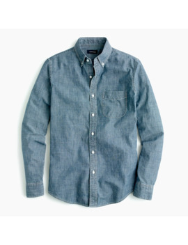 Tall One Pocket Chambray Shirt In Dark Wash by J.Crew