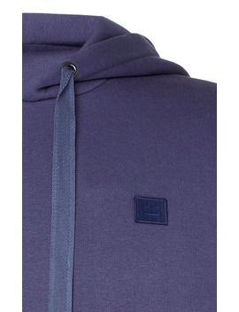 Ferris Appliquéd Fleece Back Cotton Jersey Hoodie by Acne Studios