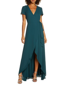 The Zoey Short Sleeve Wrap Gown by Wayf