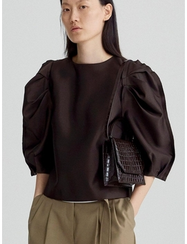 Envelope Leather Bag Brown by Recto.