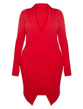 Shape Red Blazer Dress by Prettylittlething
