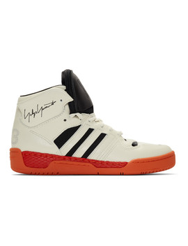 Off White & Black Hayworth Sneakers by Y 3