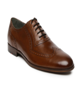 Work Men Brown Genuine Leather Classic Brogues by Ruosh