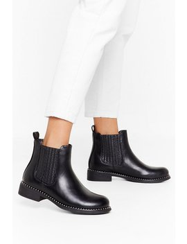 What Stud You Do Faux Leather Chelsea Boots by Nasty Gal