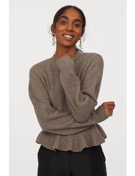 Плетен пуловер от вълна by H&M