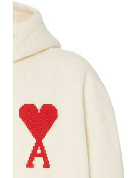 Ami De Coeur Hooded Cotton Blend Sweatshirt by Ami
