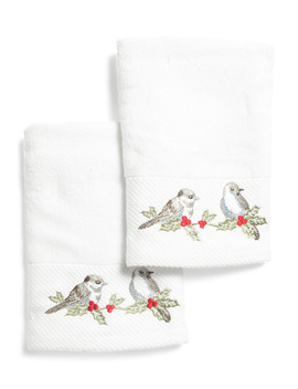2pk Holiday Bird Hand Towels by Tj Maxx