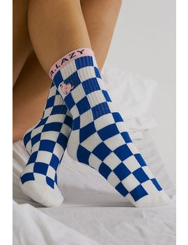 Lazy Oaf X Mr. Men Mr. Lazy Checkerboard Socks by Lazy Oaf