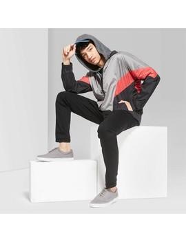 Men's Casual Fit Zip Up Windbreaker Jacket   Original Use™ Apple Pink by Original Use